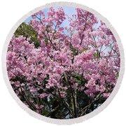 Japan Blossoms Round Beach Towel