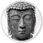 Japan: Buddha Round Beach Towel