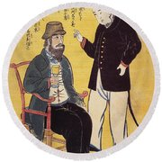 Japan: French Trade, 1861 Round Beach Towel