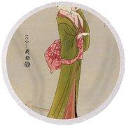 Japan: Geisha, C1794 Round Beach Towel