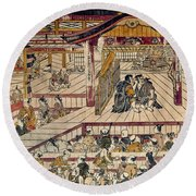 Japan: Kabuki Theater Round Beach Towel