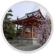 Japan Kiyomizu-dera Temple Round Beach Towel