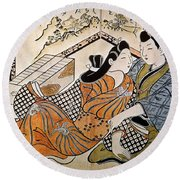 Japan: Lovers Round Beach Towel
