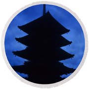 Japan Pagota Round Beach Towel