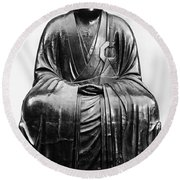Japan: Zen Priest Round Beach Towel
