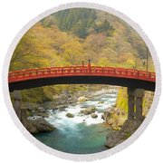 Japanese Bridge Round Beach Towel