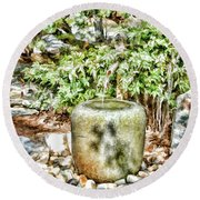 Japanese Garden 7 Round Beach Towel