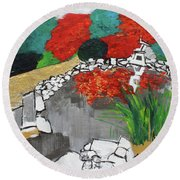 Japanese Garden Norfolk Botanical Garden 201820 Round Beach Towel
