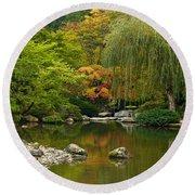 Japanese Gardens Round Beach Towel