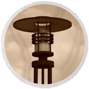 Japanese Lamp Round Beach Towel