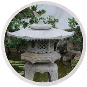 Japanese Lantern Round Beach Towel