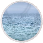 Japanese Sea #1816 Round Beach Towel
