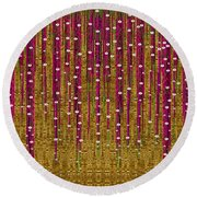 Japanese Strawberry Tree Round Beach Towel