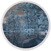 Japanese Tea Garden Infrared Center Round Beach Towel