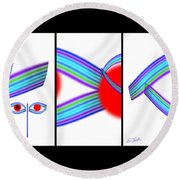 Japaneyes Round Beach Towel