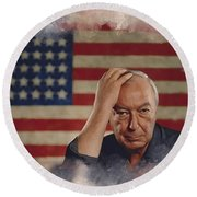 Jasper Johns Round Beach Towel