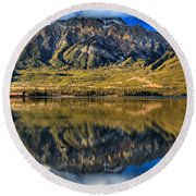 Jasper Pyramid Lake Reflections Round Beach Towel