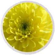 Yellow Luminosity  Round Beach Towel