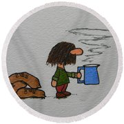 Java Round Beach Towel