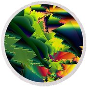 Jaws Of The Mantis Round Beach Towel