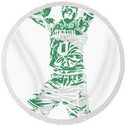 Jayson Tatum Boston Celtics Pixel Art 11 Round Beach Towel