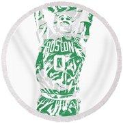 Jayson Tatum Boston Celtics Pixel Art 12 Round Beach Towel