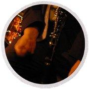 Jazz Clarinet Round Beach Towel