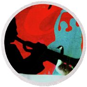 Jazz Goose Round Beach Towel