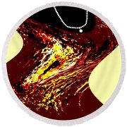 Jazz Singer Round Beach Towel