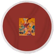 Jazzing Round Beach Towel