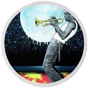 Jazzman Round Beach Towel