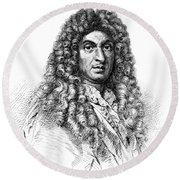 Jean-baptiste Lully, French Composer Round Beach Towel