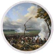 Jean Horace Vernet   The Battle Of Hanau Round Beach Towel