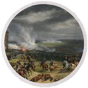 Jean Horace Vernet   The Battle Of Valmy Round Beach Towel