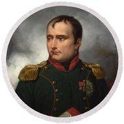 Jean Horace Vernet   The Emperor Napoleon I Round Beach Towel