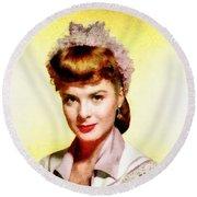 Jean Peters, Vintage Actress Round Beach Towel