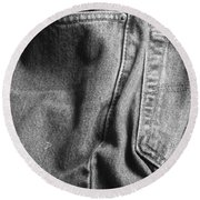 Jeans Round Beach Towel