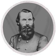 Jeb Stuart -- Confederate General Round Beach Towel