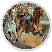 Jeb Stuarts Cavalry 1862 Round Beach Towel