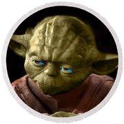 Jedi Yoda Round Beach Towel