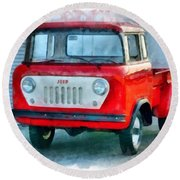 Jeep 1959 Fc150 Forward Control Pickup Round Beach Towel
