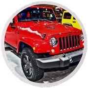 Jeep Wrangler X Round Beach Towel