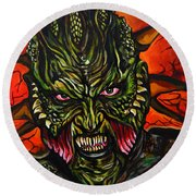 Jeepers Creepers  Round Beach Towel