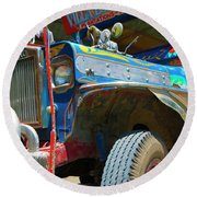 Jeepney Round Beach Towel