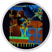 Live In Oakland 1976 Round Beach Towel
