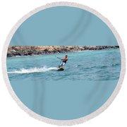Jeff Kite Surfer Round Beach Towel