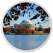 Jefferson In Splendor Round Beach Towel