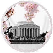 Jefferson In Spring Round Beach Towel