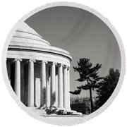 Jefferson Memorial Building In Washington Dc Round Beach Towel