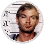 Jeffrey Dahmer Mug Shot 1991 Square  Round Beach Towel
